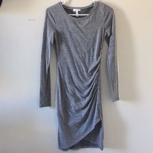 Leith Side Ruching Long-sleeve Dress